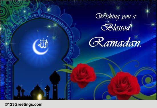 Wish you a blessed ramadan free ramadan mubarak ecards greeting wish you a blessed ramadan free ramadan mubarak ecards greeting cards 123 greetings m4hsunfo