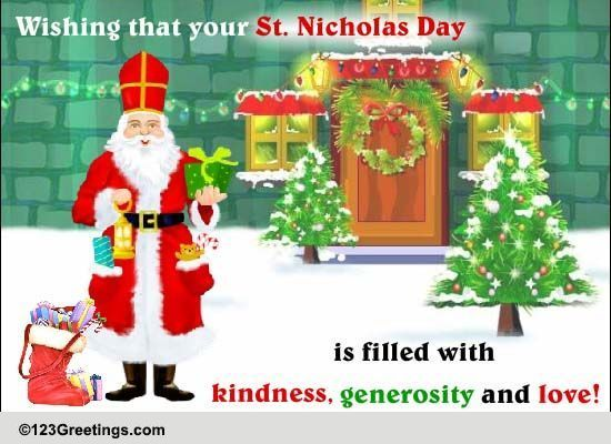Awesome St. Nicholas Day Warm Wish. Free St. Nicholas Day ECards, Greeting Cards Images