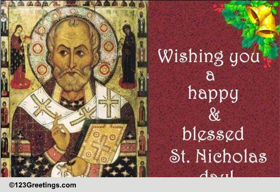 Superior St. Nicholas Day Cards, Free St. Nicholas Day Wishes, Greeting Cards | 123  Greetings