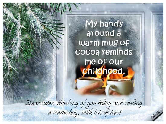 Warm Mug Of Cocoa.