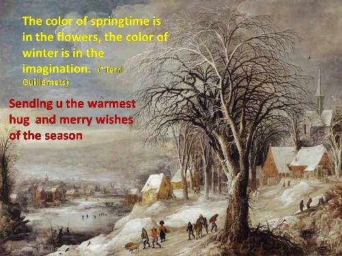 Warm Wishes For The Season Of Winter.