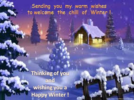 Warm Greetings To Face  Winter Chill.