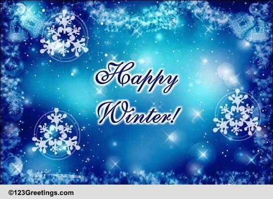 Happy Birthday Wishes For Friend Winter Wonderland! Fre...