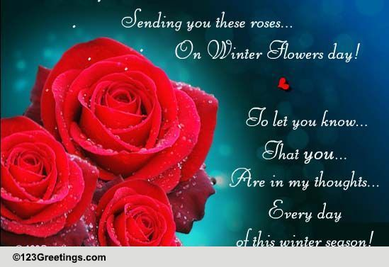 Send Winter Flowers Day Greetings!