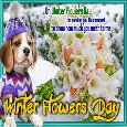 Home : Events : Winter Flowers Day 2019 [Dec 8] - My Winter Flowers Day Card For You.