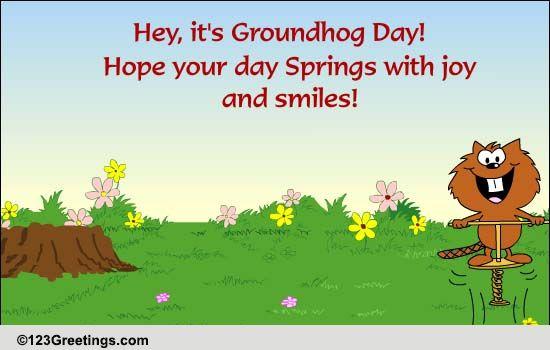 Send Groundhog's Day Ecard!