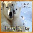 A Cute Polar Bear Hug Day Card.