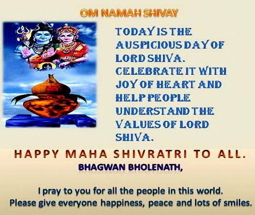 Maha Shivratri Greetings...