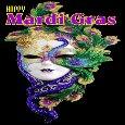 A Mardi Gras Celebration Card.