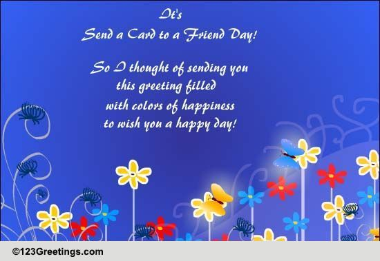 Send 'Send a Card to a Friend Day' Greetings!