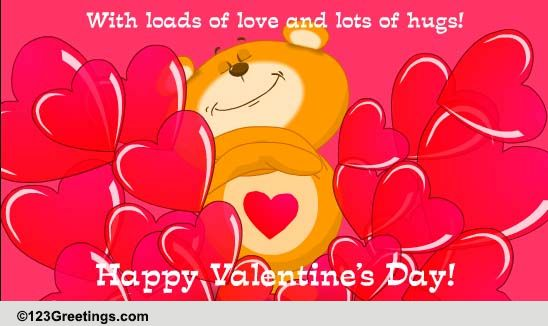 Valentines Day Love Hugs Free Family eCards Greeting Cards – Greeting Cards of Valentine Day