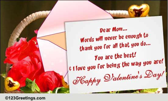 happy valentines day mom free family ecards greeting cards 123 greetings - Valentine For Mom