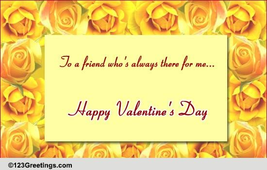 Valentine Quotes For Close Friends : V day friendship quote free friends ecards greeting cards greetings
