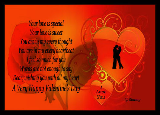 Dear! Happy Valentine's Day.