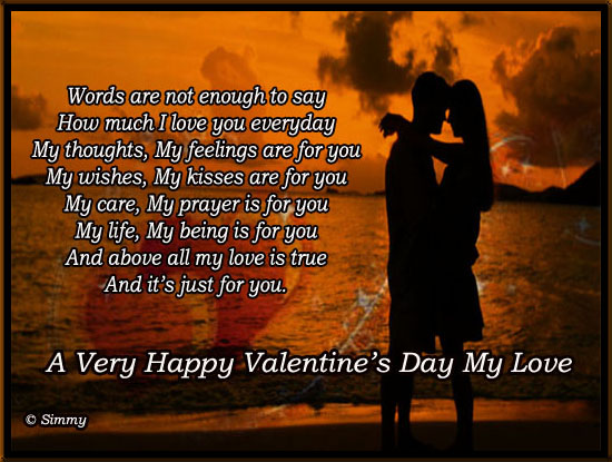 A Very Happy Valentine's Day My Love.