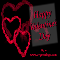 Happy Valentine%92s Day Red Hearts.