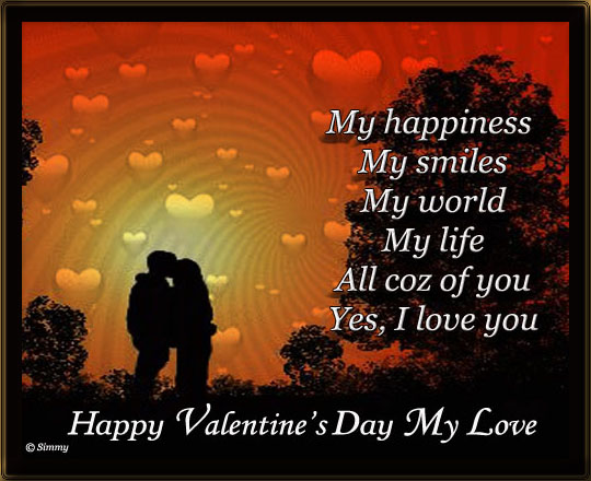 happy valentine my love