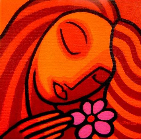 Magenta Flower.