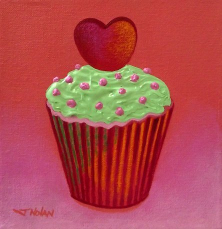 Heart Cupcake.
