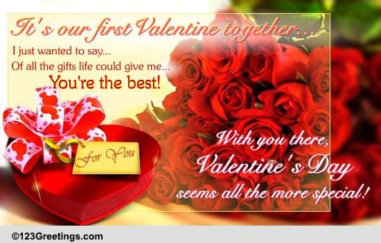 Its Our First Valentine Free Specials eCards Greeting Cards – Valentine Day Special Greeting Cards