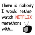 Netflix Marathons Funny Romantic Card.