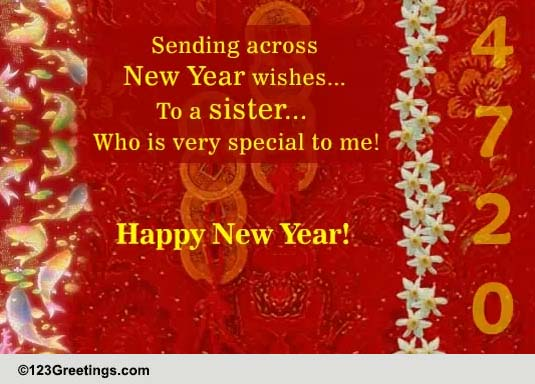 new year wish for your sister free family ecards greeting cards 123 greetings