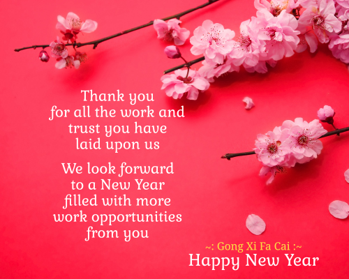 send this formal greeting to your valued customers this new year