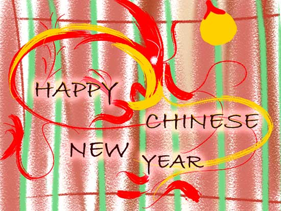 Happy Chinese New Year Expression.