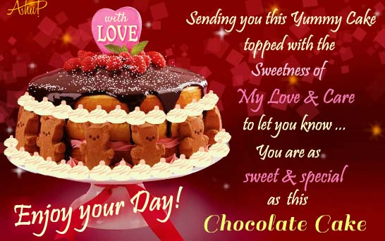 Send Chocolate Cake Day Greetings!