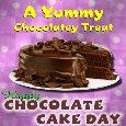 A Yummy Chocolate Cake Day Card.
