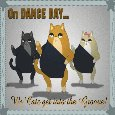 Cats' Dance Day Card.