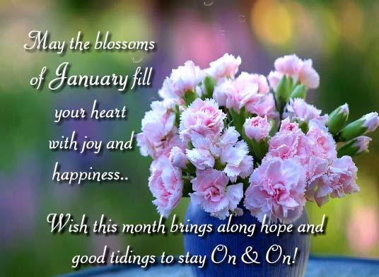 Send January Flowers Greetings!