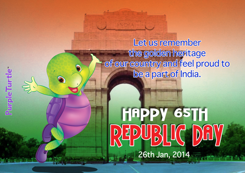 Purple Wishes A Happy Republic Day!