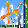 A Happy Republic Day Card.