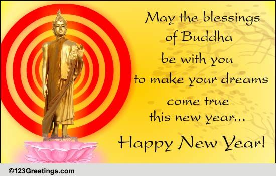 Blessings of buddha free japanese new year ecards greeting cards