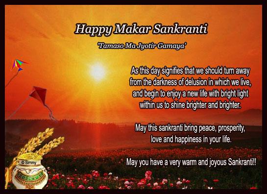 Happy & Prosperous Makar Sankranti.