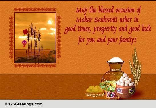 prosperity and good luck    free makar sankranti ecards
