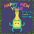 A New Year Celebration Card.