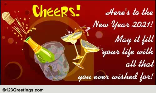 Cheers To 2019! Free Toast ECards, Greeting Cards