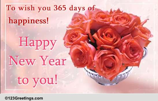 New Year Wish With Roses... Free Flowers eCards, Greeting ...