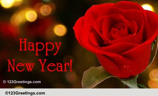 a rose on the new year 2019 free flowers ecards greeting cards 123 greetings