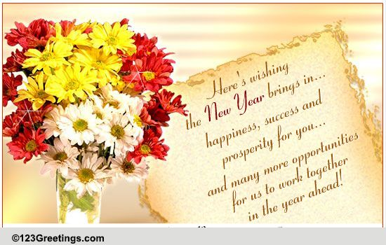 Success & Prosperity On New Year! Free Business Greetings ...