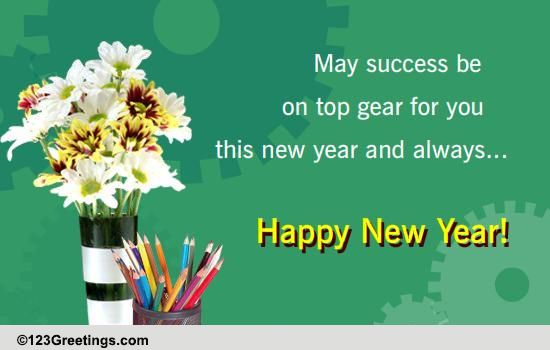 new year wish for colleagues free business greetings ecards 123 greetings