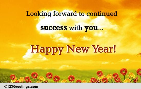 Successful New Year Free Business Greetings ECards