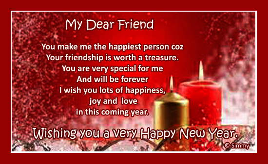New Year Wish For A Special Friend.