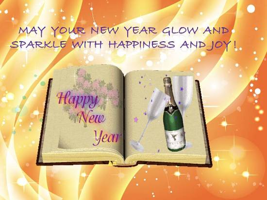 Sparkling Wish For New Year.