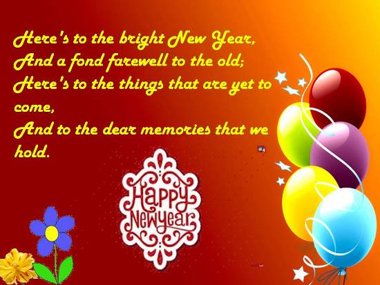Heartfelt New Year Greetings.