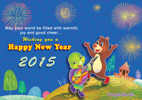 Warm Wishes For New Year 2015.