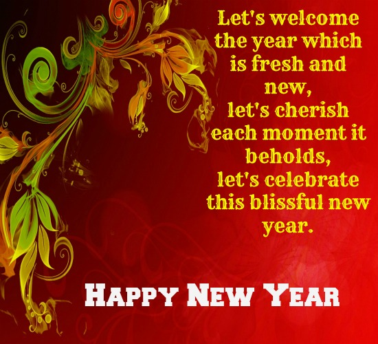 hope you have a blissful new year