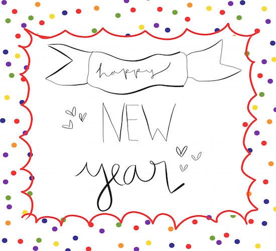 Happy New Year Colorful Confetti. Free Happy New Year eCards | 123 ...